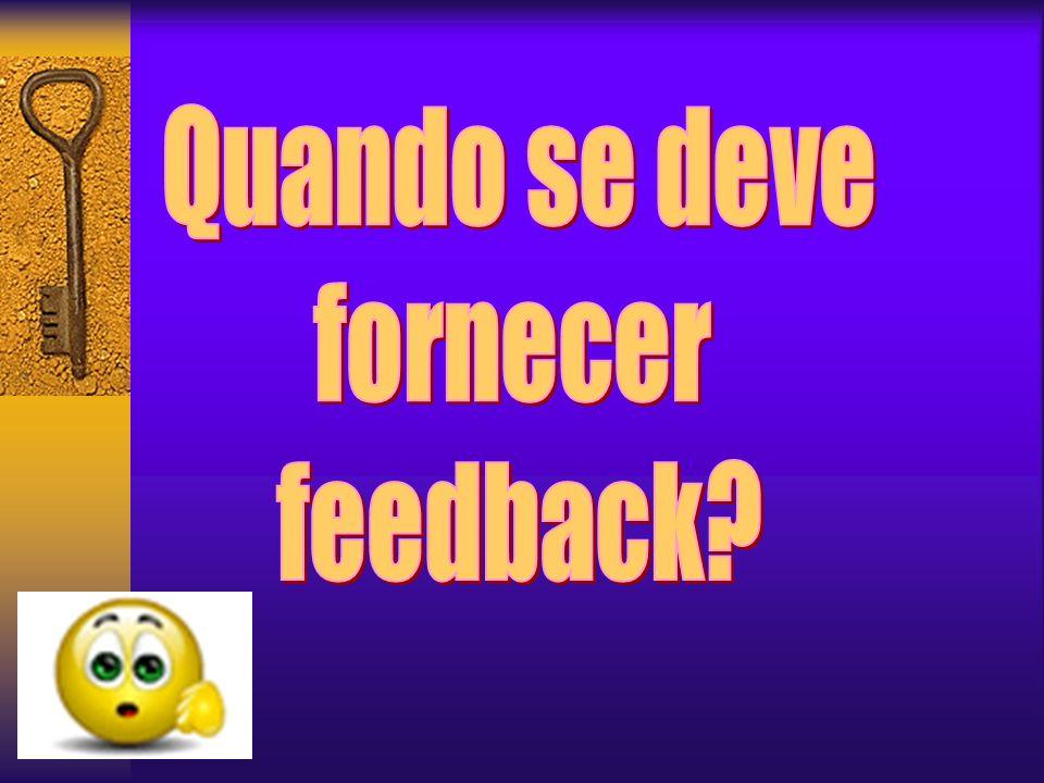 Como fornecer Feedback?