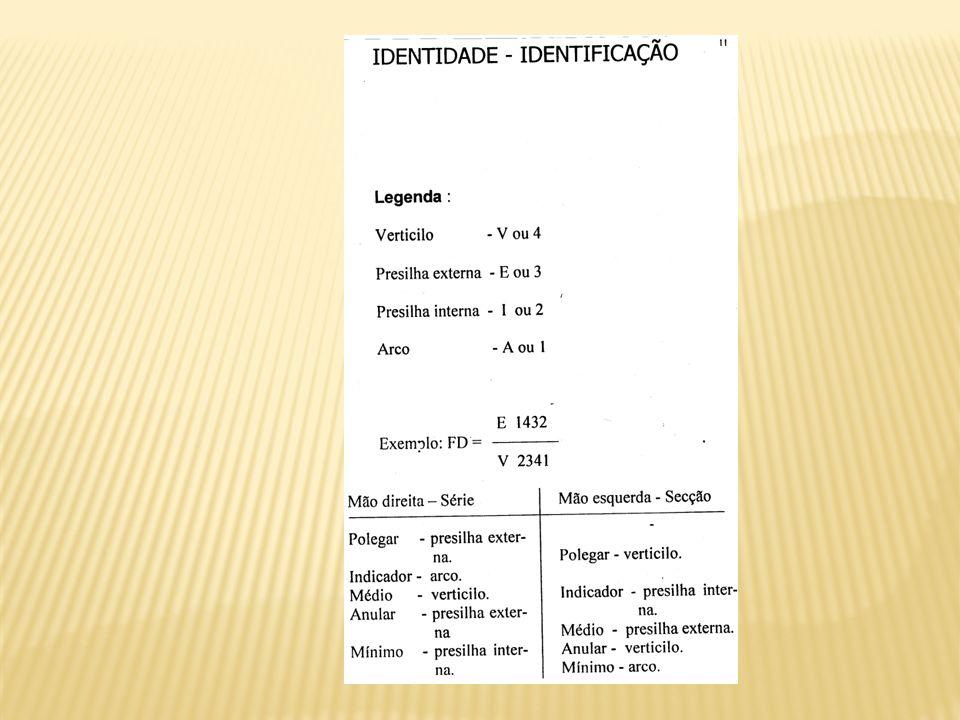 TIPO FUNDAMENTAL POLEGARDEMAIS DEDOS VERTICILOV4 PRESILHA EXTERNAE3 PRESILHA INTERNAI2 ARCOA1 DEDOS DEFEITUOSOS XX AMPUTAÇÕES00