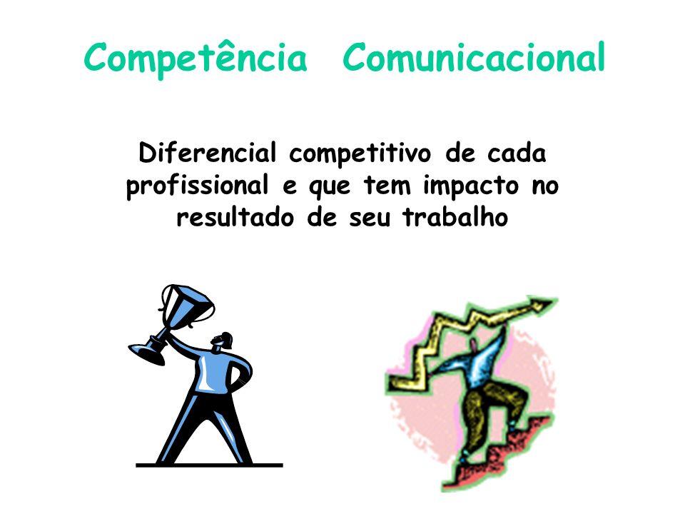 Diferencial competitivo de cada profissional e que tem impacto no resultado de seu trabalho Competência Comunicacional