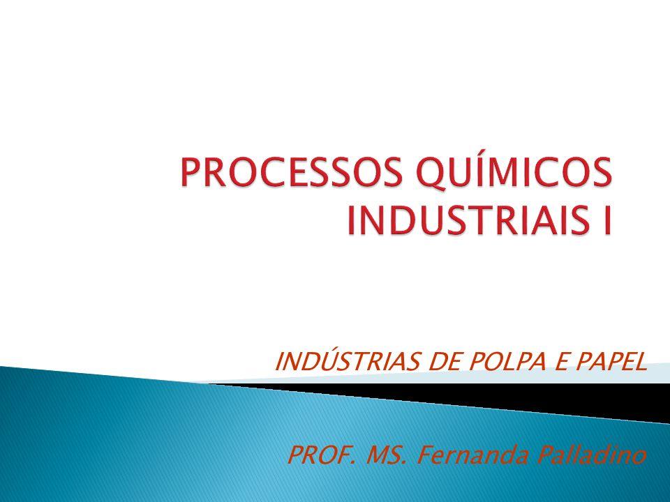 PROF. MS. Fernanda Palladino INDÚSTRIAS DE POLPA E PAPEL