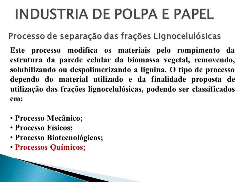 INDUSTRIA DE POLPA E PAPEL É um processo alcalino, responsável pela maior parte da polpa que se fabrica nos dias de hoje.