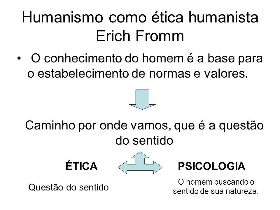 NA ÉTICA HUMANISTA...O bem é a afirmação da vida, o desenvolvimento das capacidades do homem.