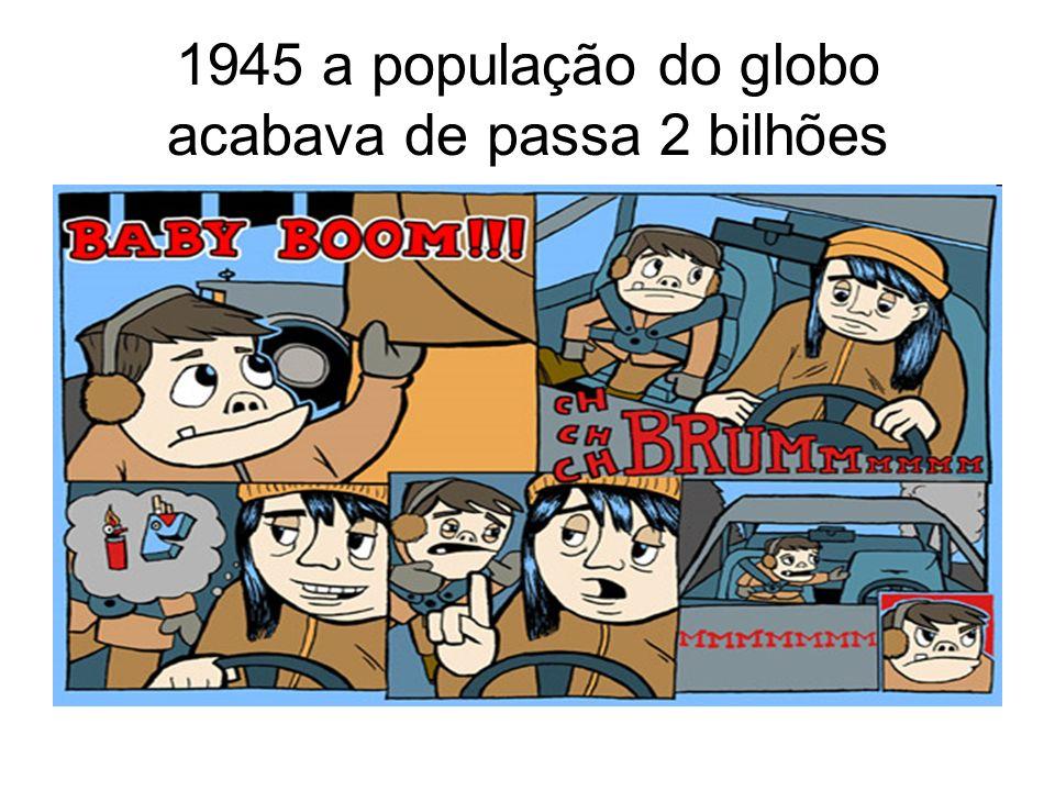 1945 a população do globo acabava de passa 2 bilhões