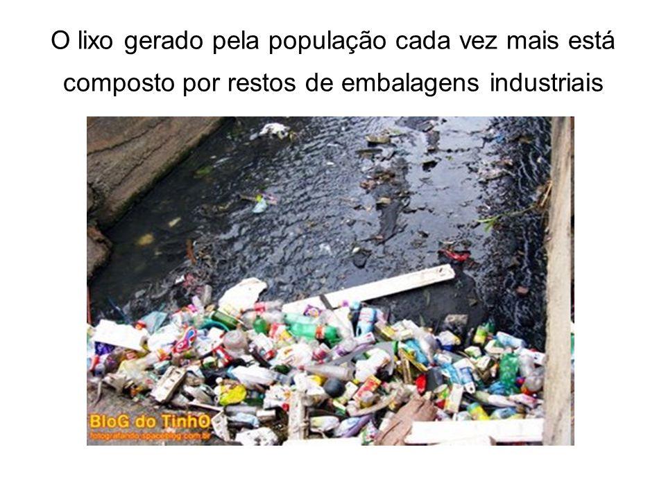 O lixo gerado pela população cada vez mais está composto por restos de embalagens industriais
