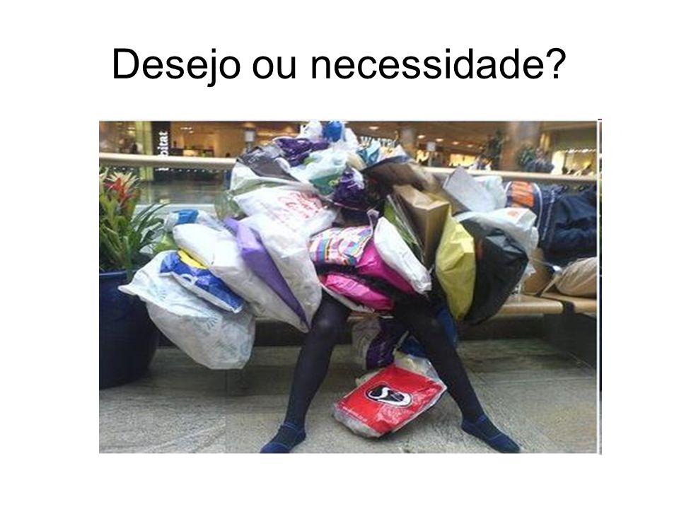 Desejo ou necessidade?