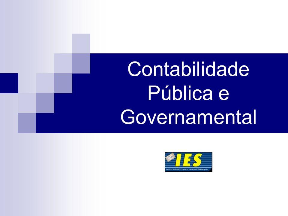 Contabilidade Pública e Governamental