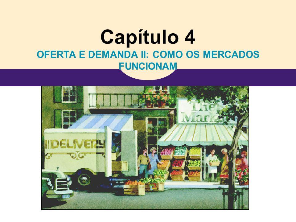 Capítulo 4 OFERTA E DEMANDA II: COMO OS MERCADOS FUNCIONAM