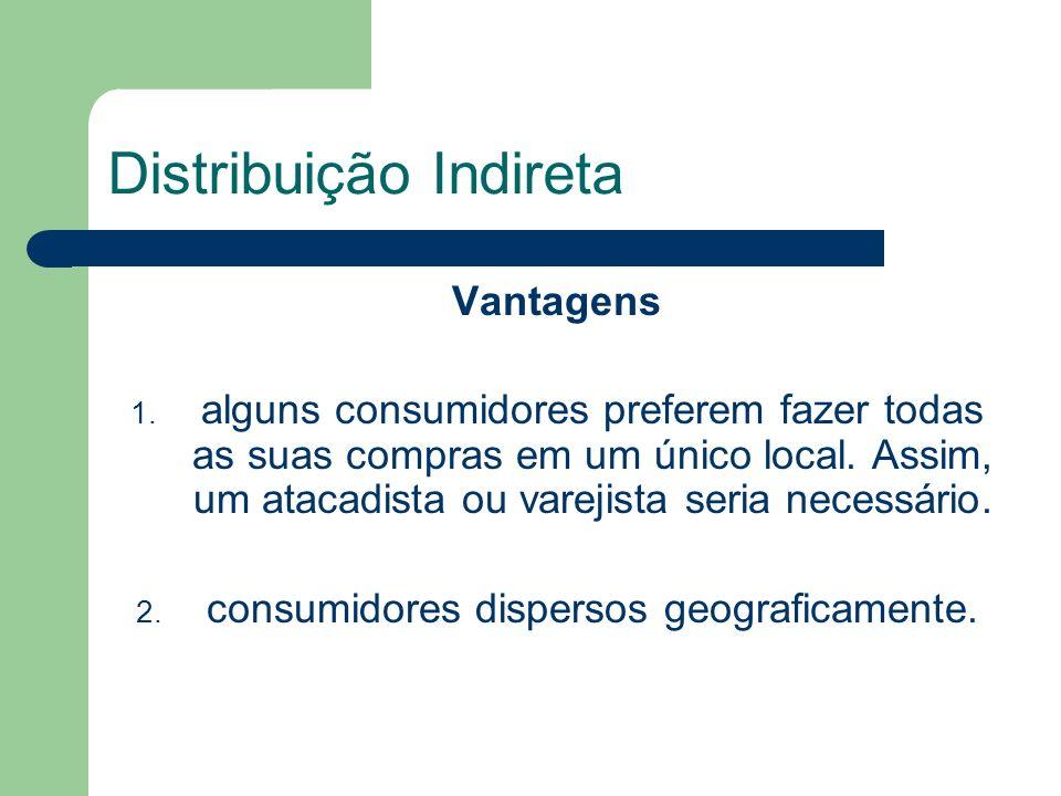 Distribuição Indireta Vantagens 1.