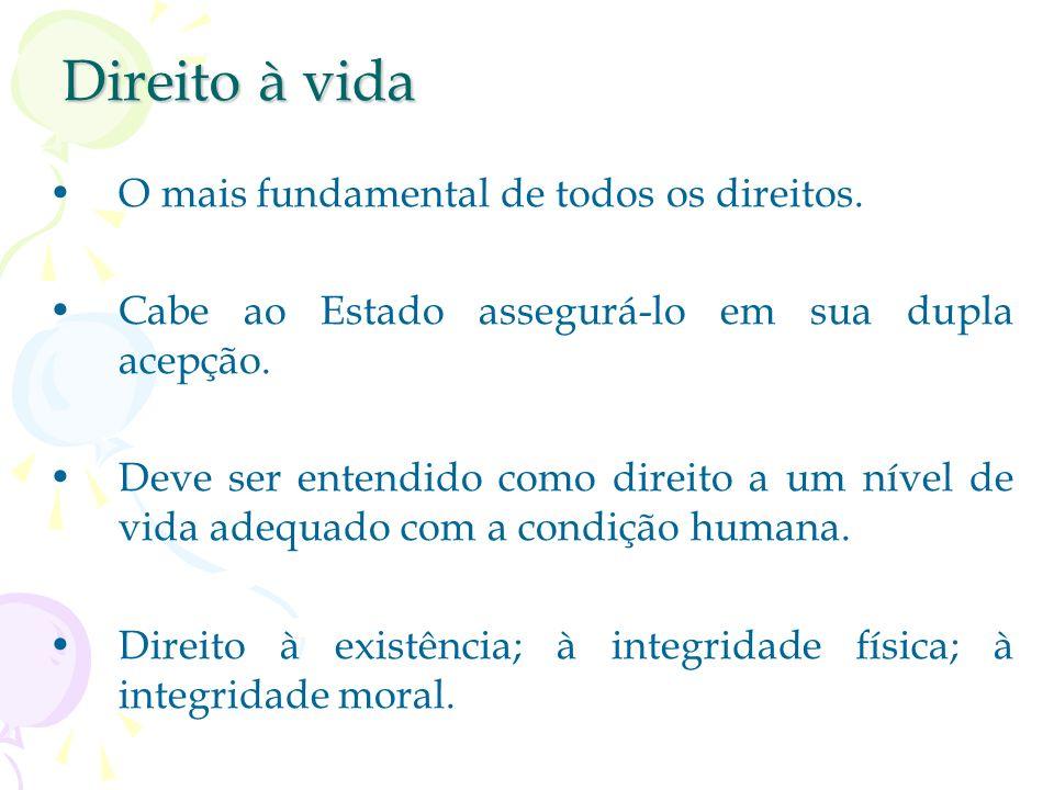 Direitos Fundamentais Individuais Classificação dos direitos fundamentais: –a) direitos de defesa (incluem os direitos de liberdade, igualdade, as gar