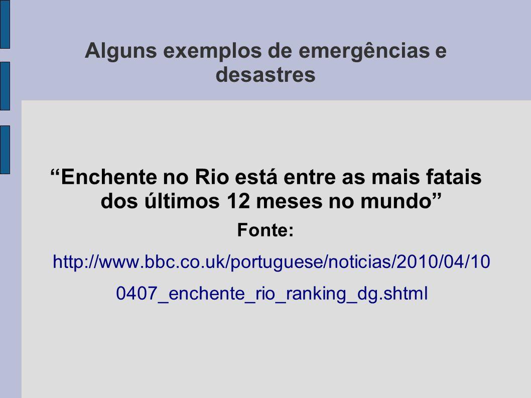 Enchente no Rio está entre as mais fatais dos últimos 12 meses no mundo Fonte: http://www.bbc.co.uk/portuguese/noticias/2010/04/10 0407_enchente_rio_r