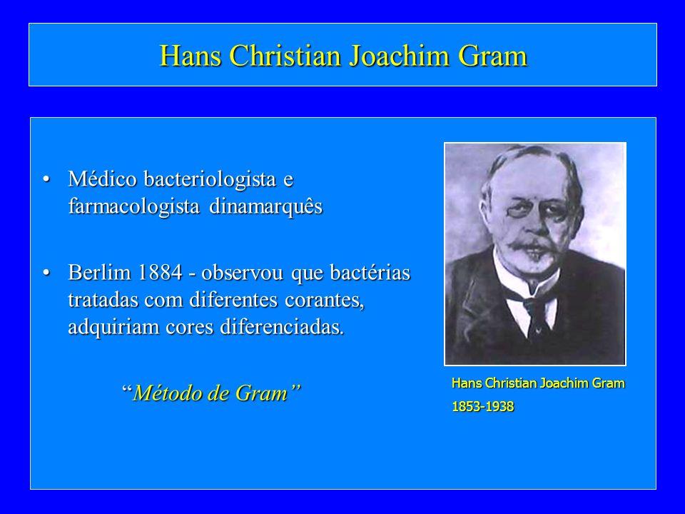 Hans Christian Joachim Gram Médico bacteriologista e farmacologista dinamarquêsMédico bacteriologista e farmacologista dinamarquês Berlim 1884 - obser