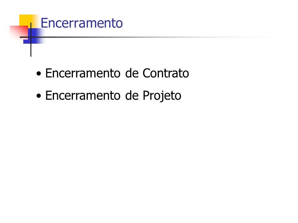 Encerramento Encerramento de Contrato Encerramento de Projeto
