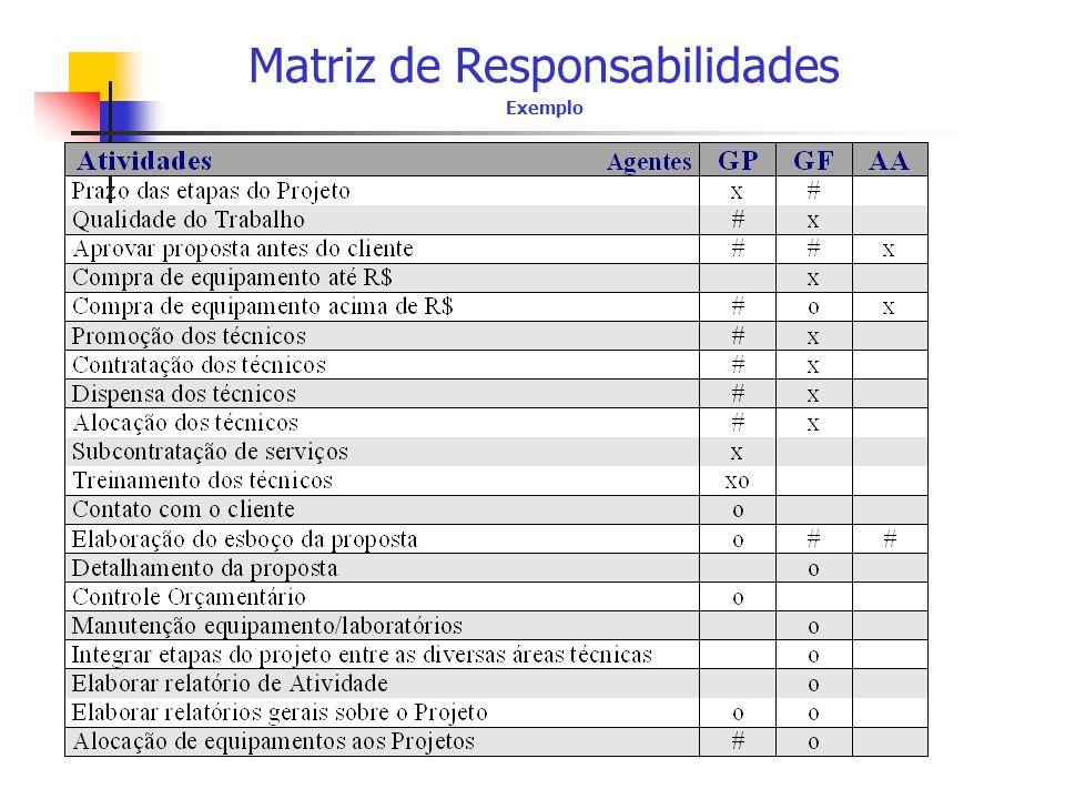 Matriz de Responsabilidades Exemplo