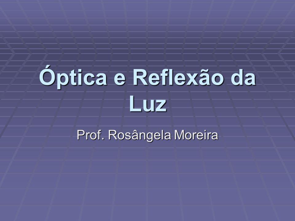Óptica e Reflexão da Luz Prof. Rosângela Moreira