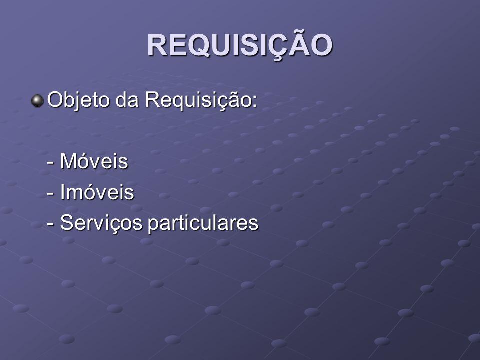 REQUISIÇÃO Objeto da Requisição: - Móveis - Imóveis - Serviços particulares