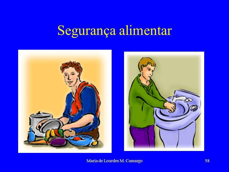 Maria de Lourdes M. Camargo58 Segurança alimentar