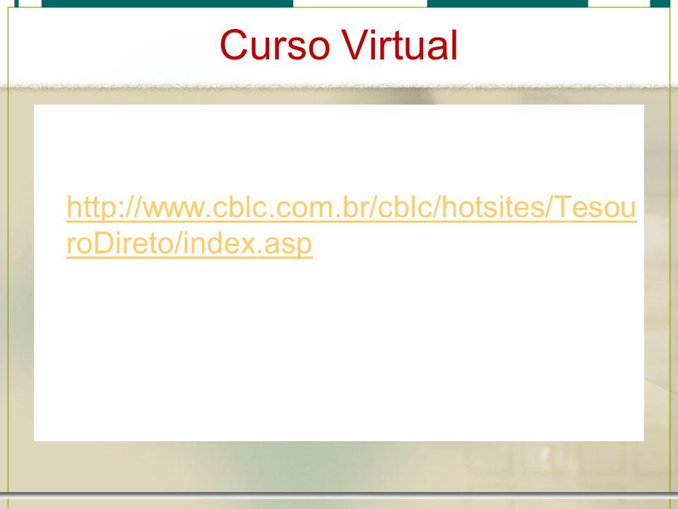 Curso Virtual http://www.cblc.com.br/cblc/hotsites/Tesou roDireto/index.asp