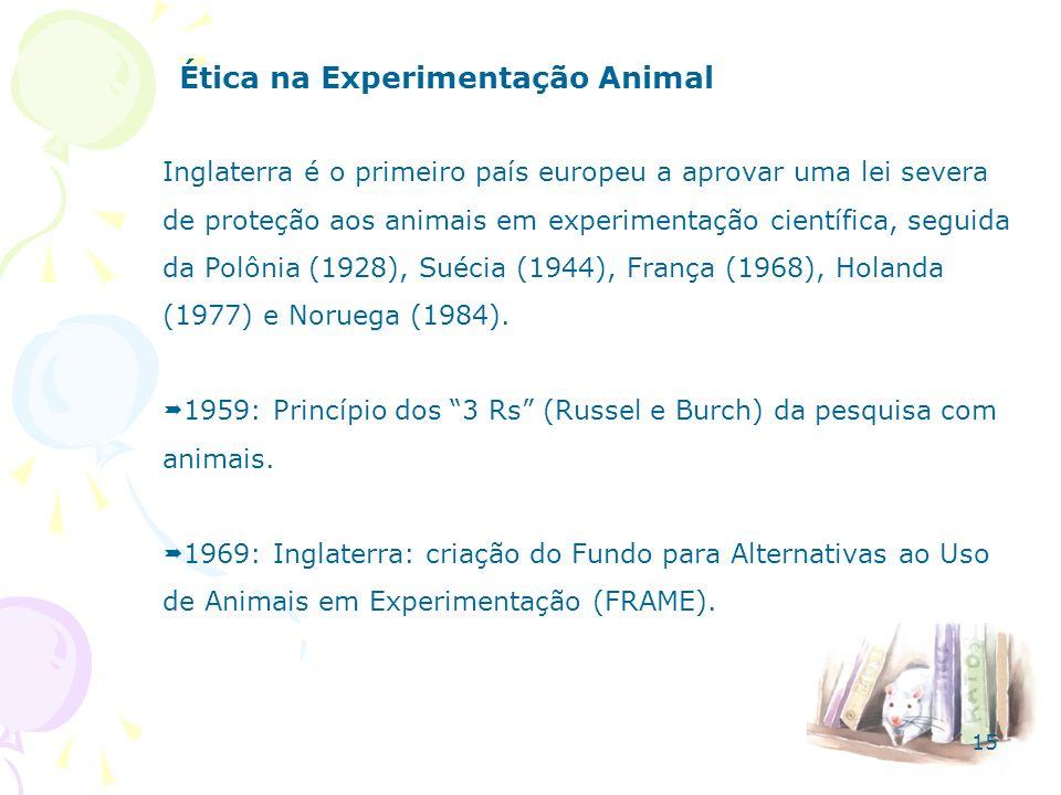 Ética na Experimentação Animal Inglaterra é o primeiro país europeu a aprovar uma lei severa de proteção aos animais em experimentação científica, seg