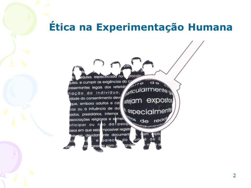 Ética na Experimentação Animal 7 Recuse levar adiante qualquer experimento, se este o preocupa.