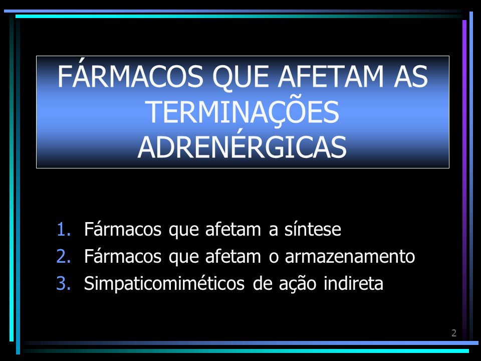 13 SIMPATICOMIMÉTICOS FARMACOLOGIA CLÍNICA