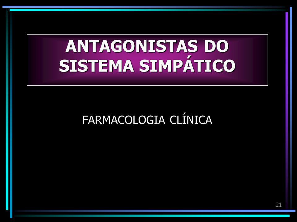 21 ANTAGONISTAS DO SISTEMA SIMPÁTICO FARMACOLOGIA CLÍNICA