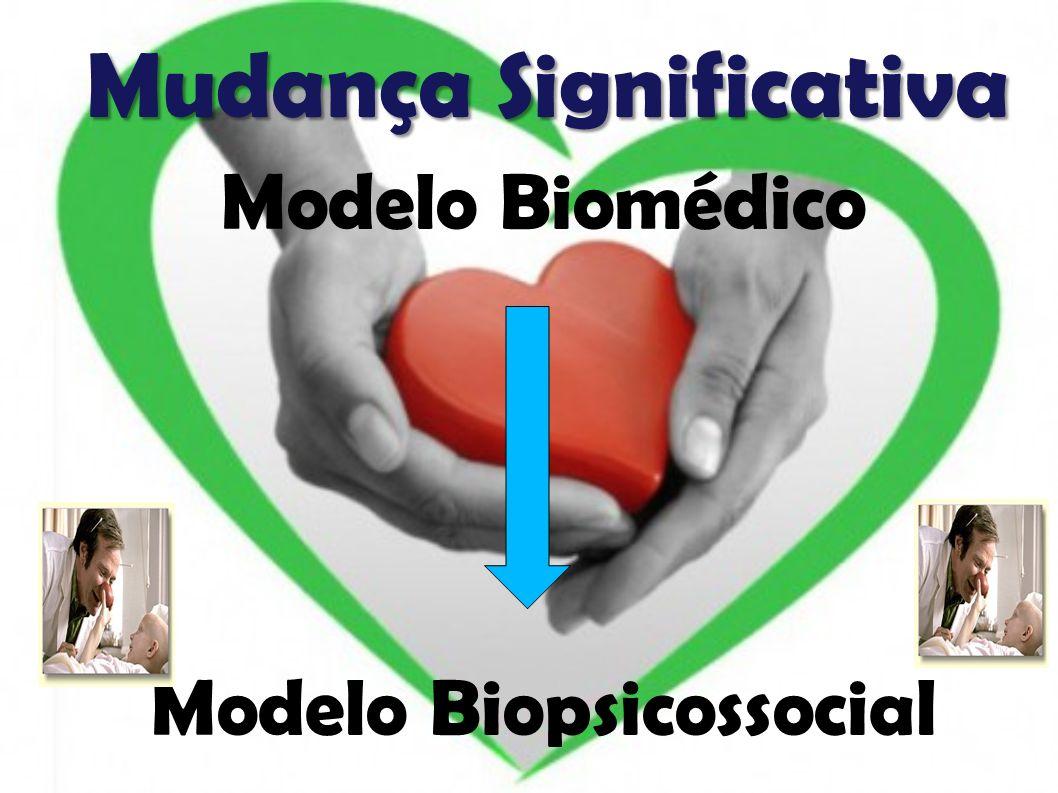 Mudança Significativa Modelo Biomédico Modelo Biopsicossocial