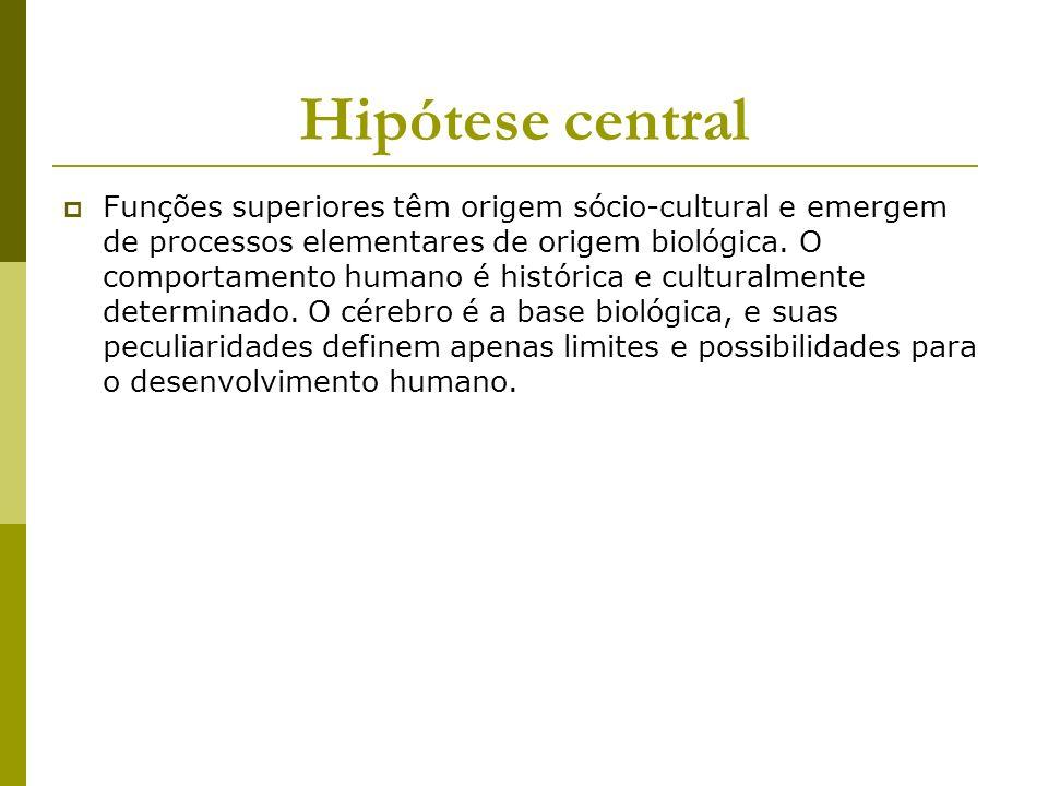 Funções superiores têm origem sócio-cultural e emergem de processos elementares de origem biológica. O comportamento humano é histórica e culturalment
