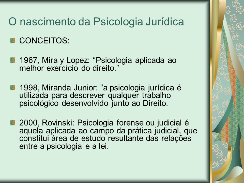 Atribuições Profissionais do Psicólogo Jurídico no Brasil 8.