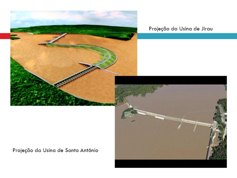Projeção da Usina de Jirau Projeção da Usina de Santo Antônio