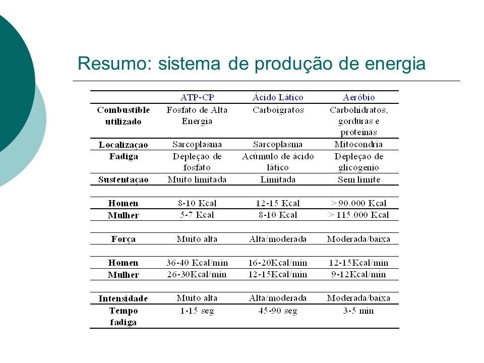 Resumo: sistema de produção de energia