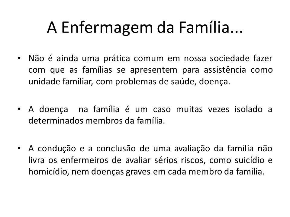 A Enfermagem da Família... Não é ainda uma prática comum em nossa sociedade fazer com que as famílias se apresentem para assistência como unidade fami