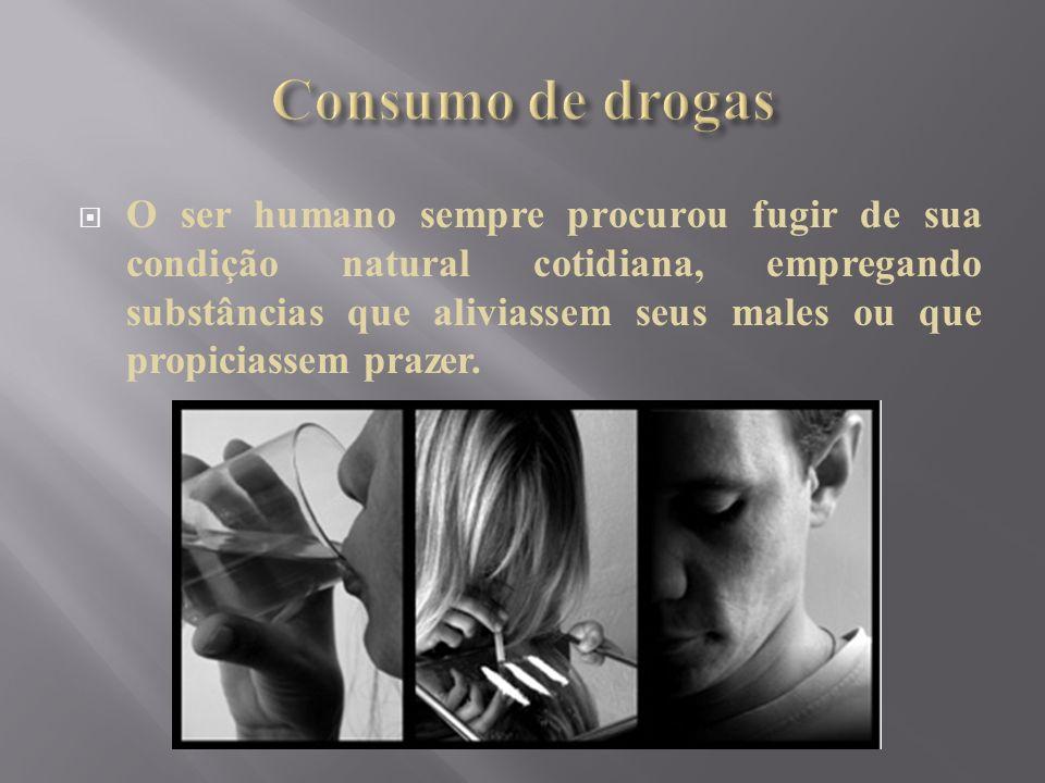 O ser humano sempre procurou fugir de sua condição natural cotidiana, empregando substâncias que aliviassem seus males ou que propiciassem prazer.
