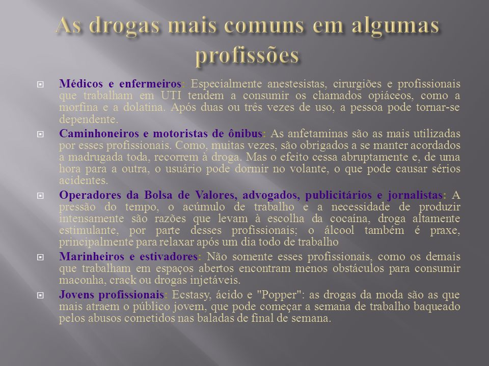 F olha de S.Paulo, 13/03/03, Álcool e drogas no ambiente de trabalho.