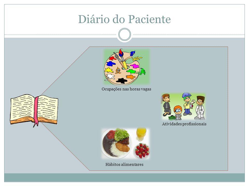 Diário do Paciente Ocupações nas horas vagas Hábitos alimentares Atividades profissionais