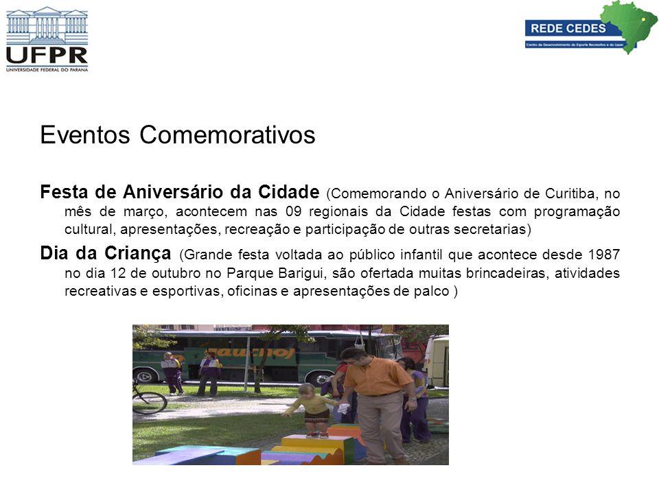 Eventos Comemorativos Festa de Aniversário da Cidade (Comemorando o Aniversário de Curitiba, no mês de março, acontecem nas 09 regionais da Cidade fes