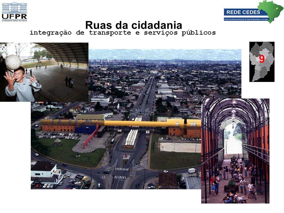 Ruas da cidadania integração de transporte e serviços públicos 9