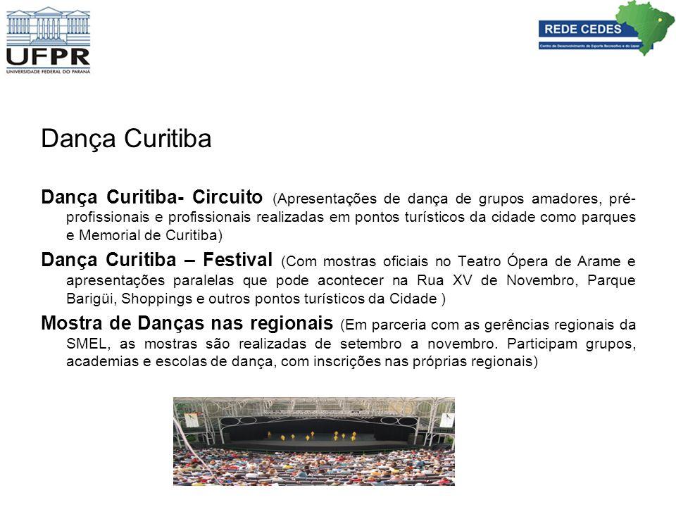 Dança Curitiba Dança Curitiba- Circuito (Apresentações de dança de grupos amadores, pré- profissionais e profissionais realizadas em pontos turísticos