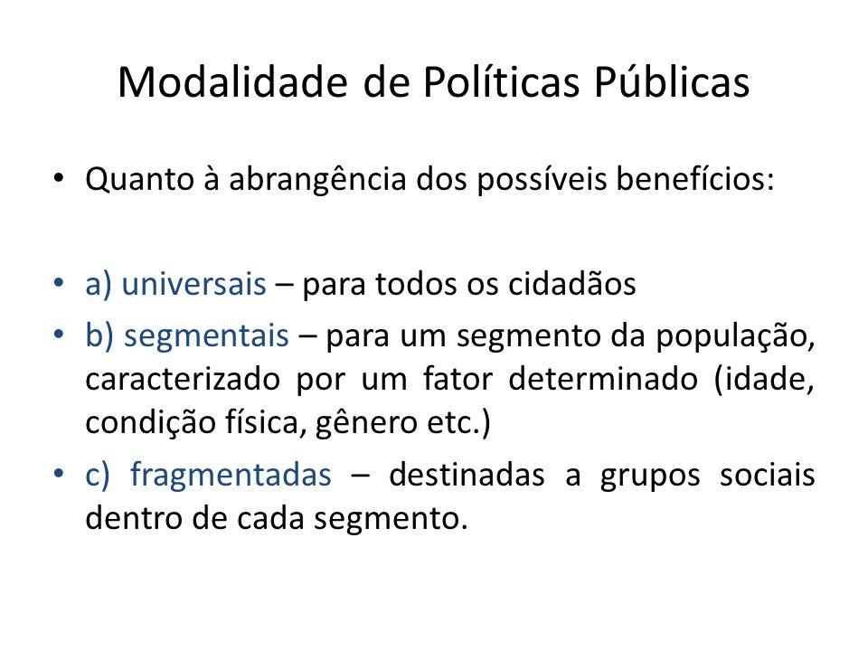 Limites da Participação A participação dos atores não-governamentais no desenvolvimento e implementação de políticas públicas garantem maior transparência no processo, mas não garantem a extinção da manipulação política.