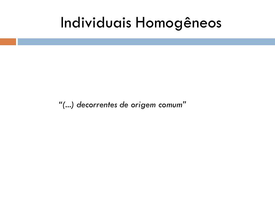 Individuais Homogêneos (...) decorrentes de origem comum