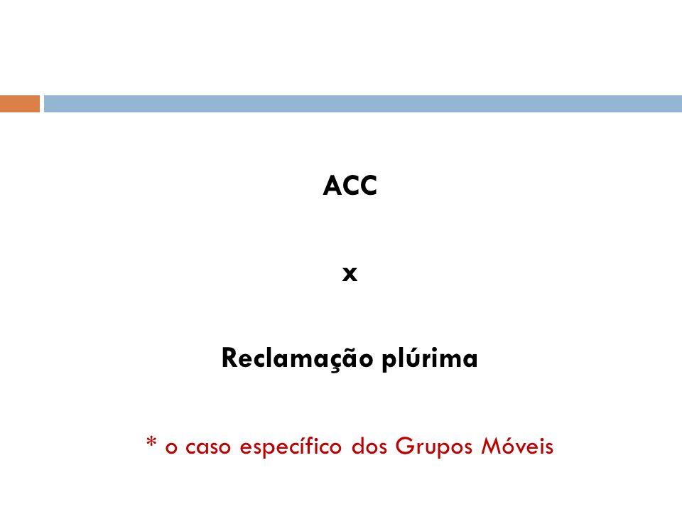 ACC x Reclamação plúrima * o caso específico dos Grupos Móveis