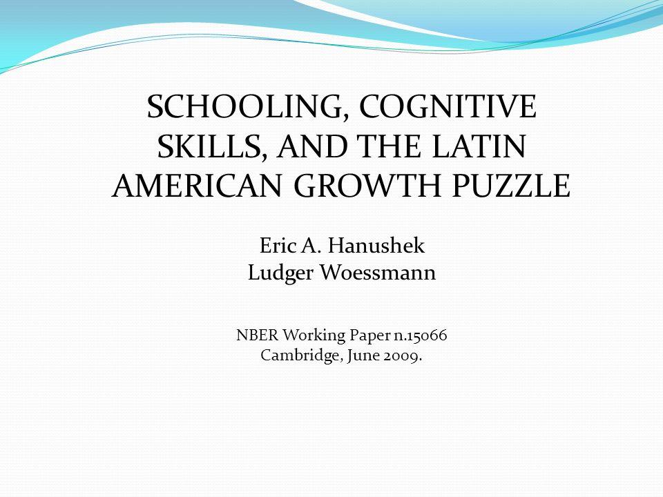 Como melhorar a capacidade cognitiva Aumento dos recursos destinados ao sistema educacional para a obtenção de melhores resultados.