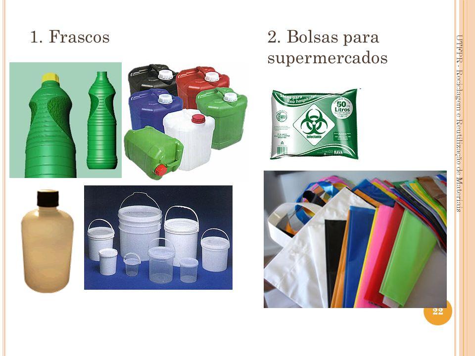 22 1. Frascos 2. Bolsas para supermercados UTFPR - Reciclagem e Reutilização de Materiais