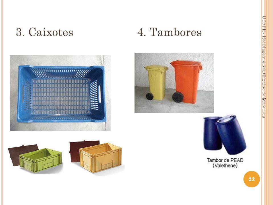 23 3. Caixotes 4. Tambores UTFPR - Reciclagem e Reutilização de Materiais