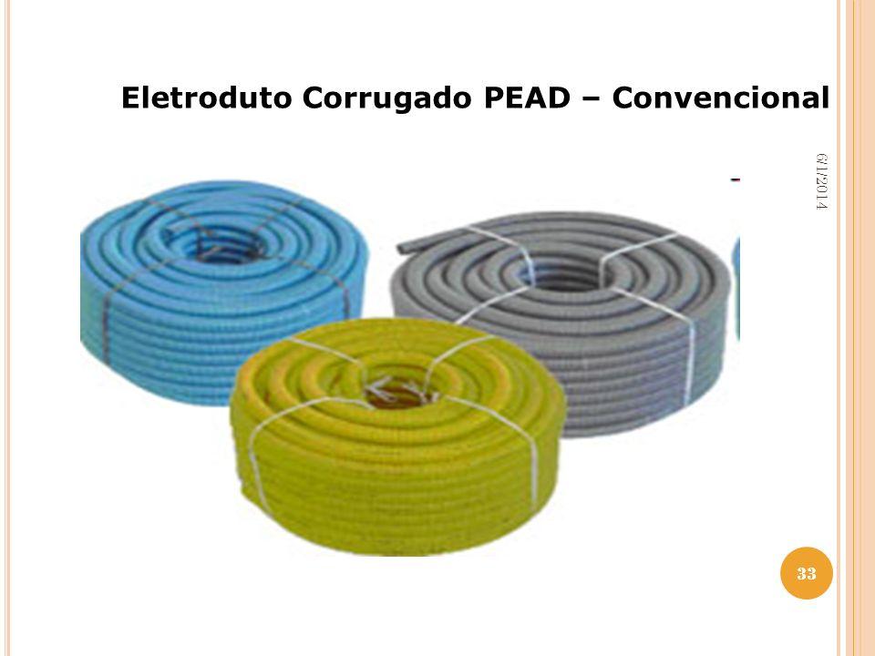 33 6/1/2014 33 Eletroduto Corrugado PEAD – Convencional