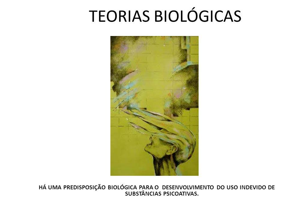 TEORIAS BIOLÓGICAS T HÁ UMA PREDISPOSIÇÃO BIOLÓGICA PARA O DESENVOLVIMENTO DO USO INDEVIDO DE SUBSTÂNCIAS PSICOATIVAS.