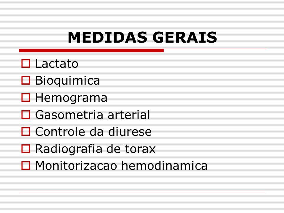 TRATAMENTO Reposicao volemica como orientacao terapeutica geral independente de sua causa : Solucao salina Ringer lactato Cristaloide Coloide Plasma Tranfusao