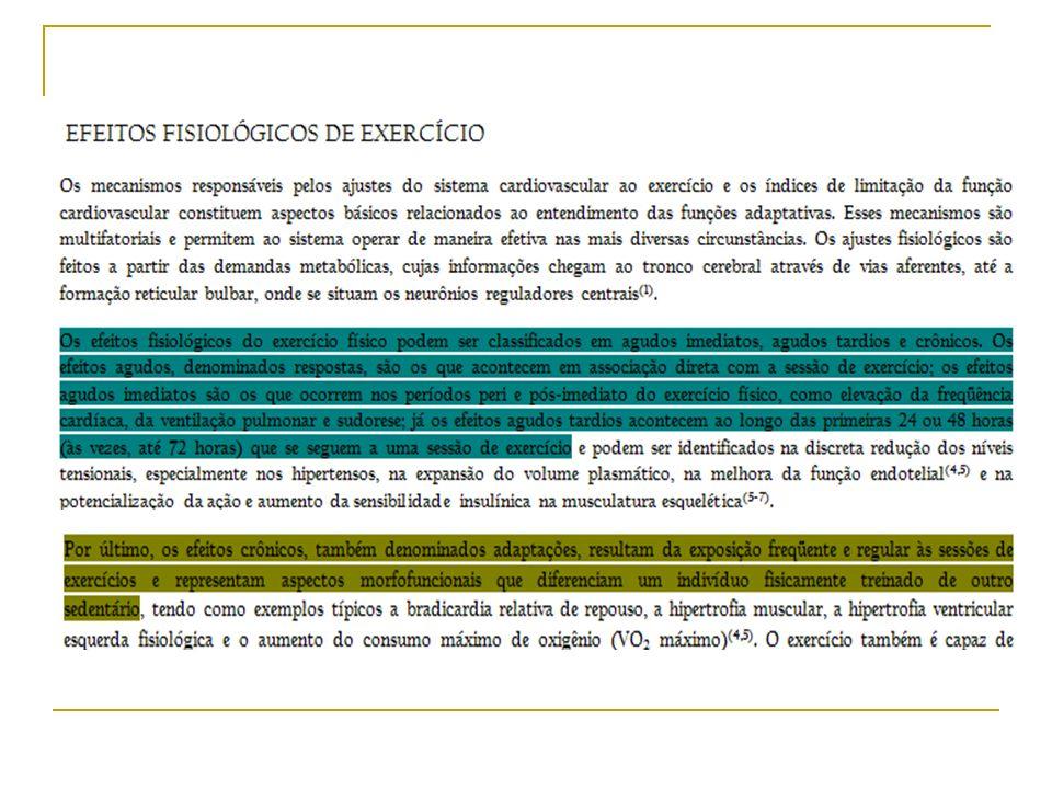 Exercício Físico x Atividade Física Faixas de Intensidade de Exercício* Aeróbica – baixa e moderada intensidade; Anaeróbica – alta intensidade.
