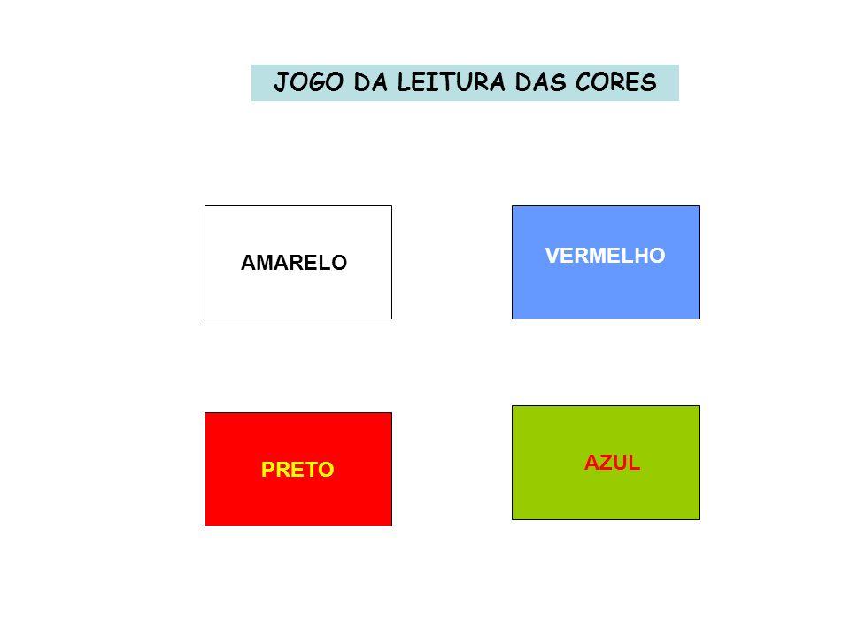 JOGO DA LEITURA DAS CORES AMARELO VERMELHO PRETO AZUL