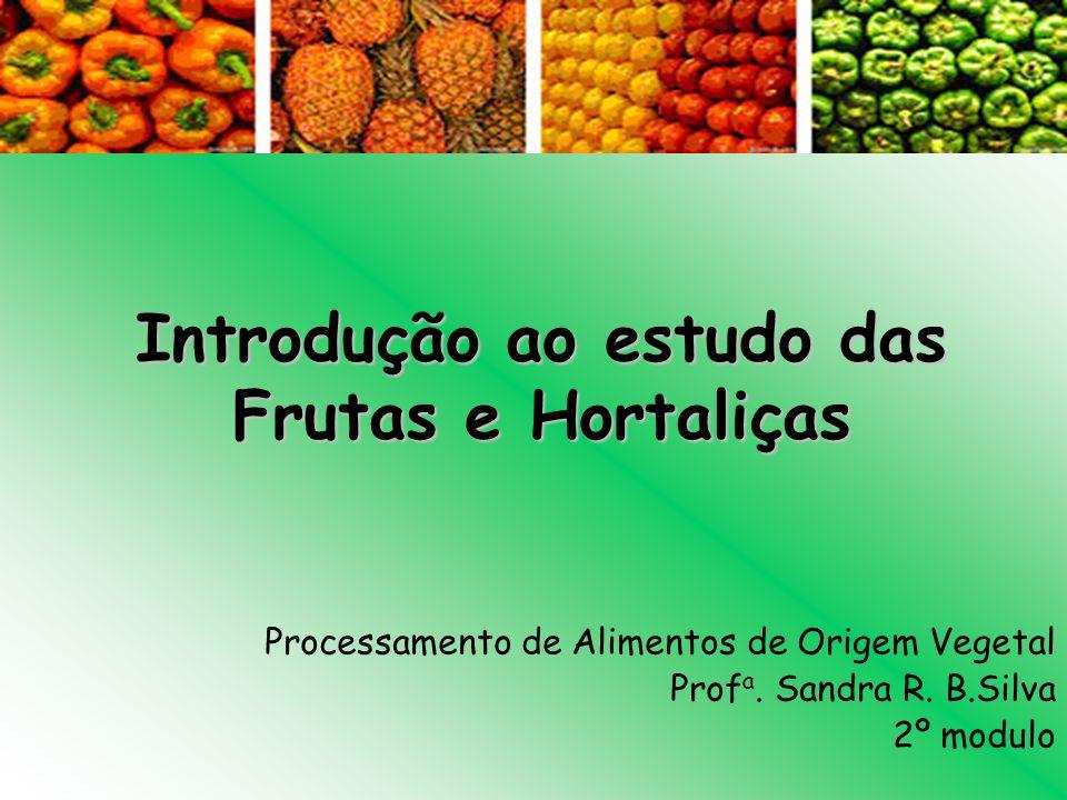 Introdução ao estudo das Frutas e Hortaliças Processamento de Alimentos de Origem Vegetal Prof a. Sandra R. B.Silva 2º modulo