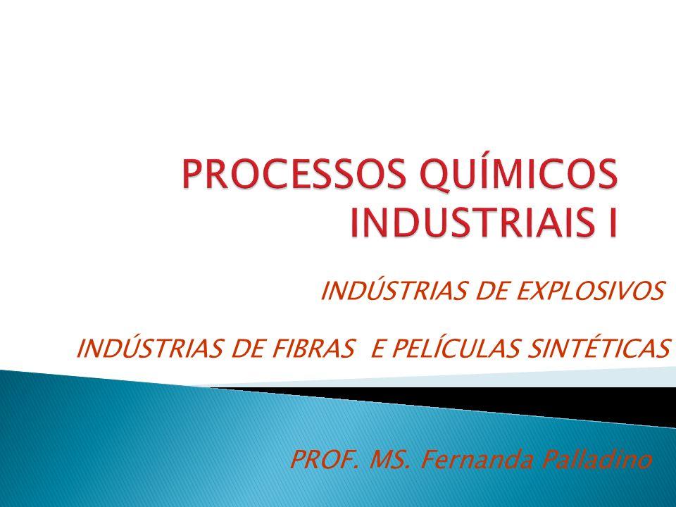 PROF. MS. Fernanda Palladino INDÚSTRIAS DE FIBRAS E PELÍCULAS SINTÉTICAS INDÚSTRIAS DE EXPLOSIVOS